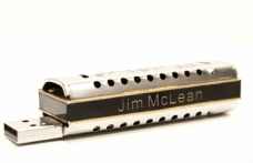 Personalized FlashHarp harmonica USB